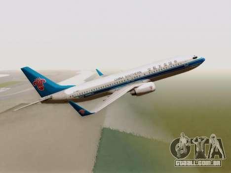 China Southern Airlines Boeing 737-800 para GTA San Andreas vista traseira