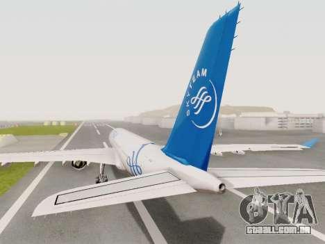 A330-202 China Eastern para GTA San Andreas esquerda vista