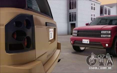 Gallivanter Baller из GTA V para GTA San Andreas vista traseira