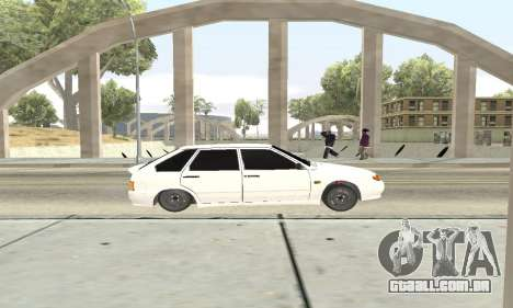 VAZ 2114 Avtosh para GTA San Andreas vista traseira