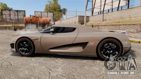 Koenigsegg CCX para GTA 4 esquerda vista