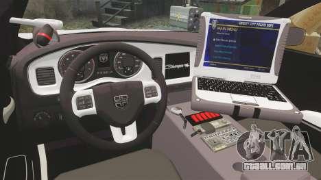 Dodge Charger 2013 LCPD [ELS] para GTA 4 vista de volta