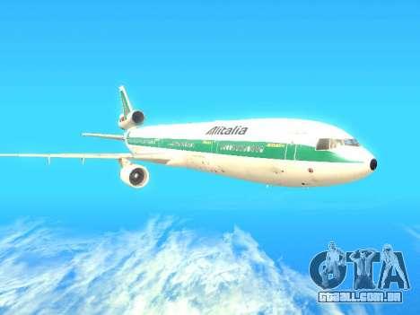 McDonnell Douglas MD-11 Alitalia para GTA San Andreas traseira esquerda vista