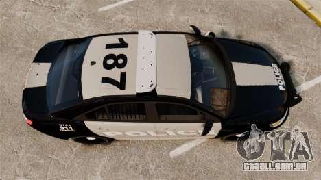 Ford Taurus LCPD Interceptor 2011 [ELS] para GTA 4 vista direita