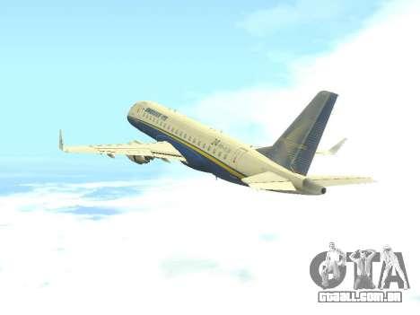Embraer 175 HOUSE para GTA San Andreas vista traseira