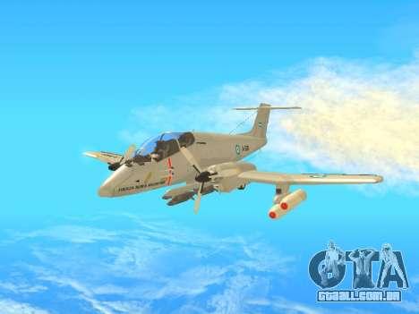 FMA IA-58 Pucara para GTA San Andreas esquerda vista