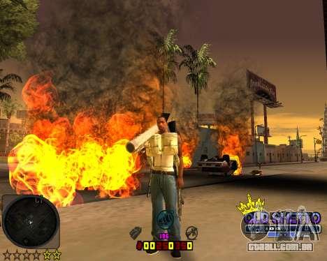 C-HUD Old Ghetto para GTA San Andreas segunda tela