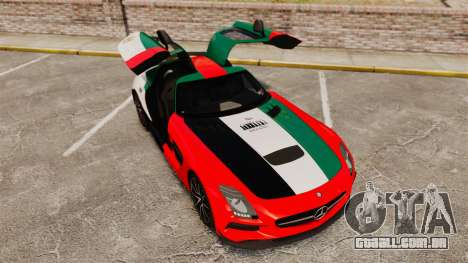 Mercedes-Benz SLS 2014 AMG UAE Theme para GTA 4 vista superior