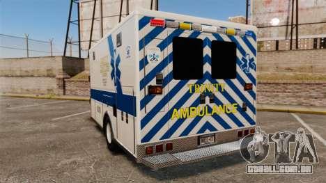 Brute Speedo TEMS Ambulance [ELS] para GTA 4 traseira esquerda vista
