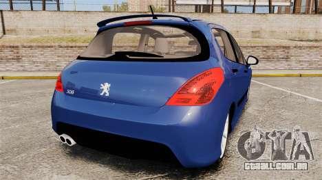 Peugeot 308 GTI para GTA 4 traseira esquerda vista