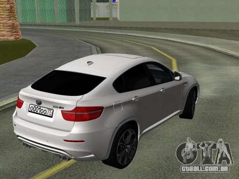BMW X6M 2010 para GTA San Andreas vista interior