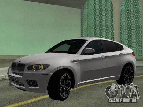BMW X6M 2010 para GTA San Andreas esquerda vista