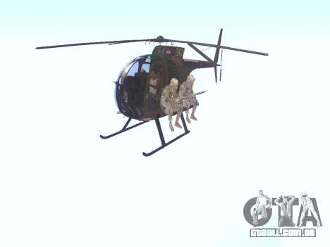 OH-6 Cayuse para GTA San Andreas esquerda vista