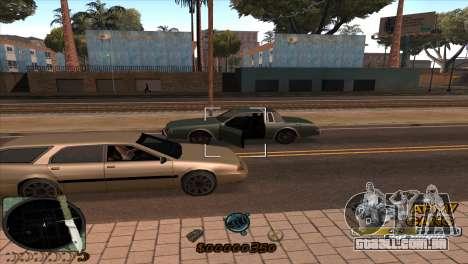 C-HUD Army Gang para GTA San Andreas por diante tela