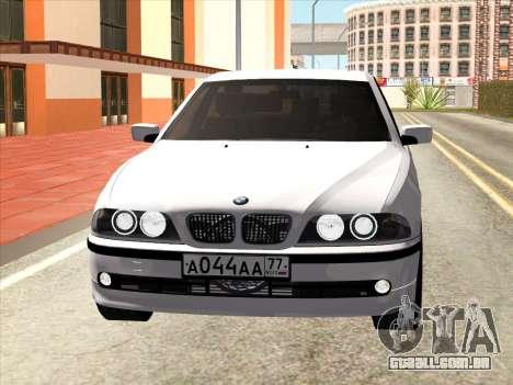 BMW 530d E39 para GTA San Andreas esquerda vista