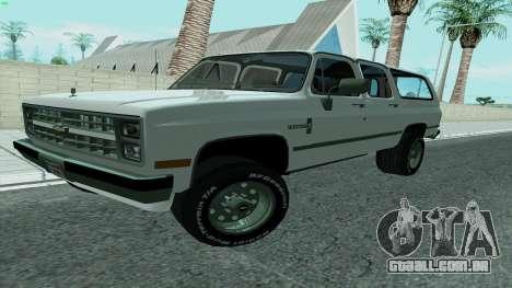 Chevrolet Suburban 2500 1986 para GTA San Andreas