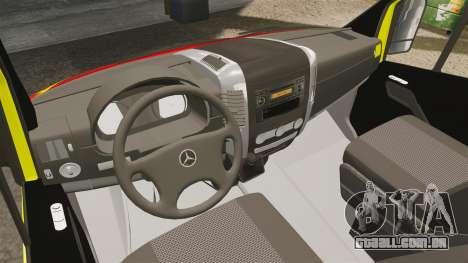 Mercedes-Benz Sprinter Finnish Ambulance [ELS] para GTA 4 vista de volta