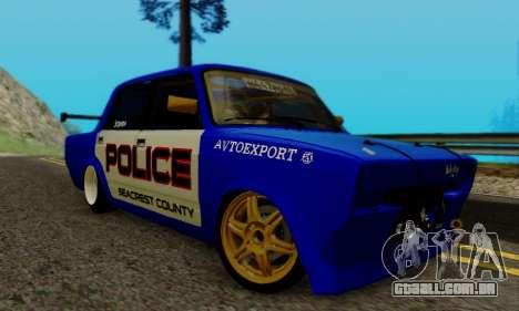 VAZ 2107 Drift para GTA San Andreas traseira esquerda vista