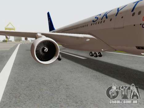 A330-202 China Eastern para GTA San Andreas vista traseira