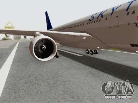 A330-202 China Eastern para GTA San Andreas vista traseira