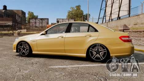 Mercedes-Benz E63 AMG para GTA 4 esquerda vista