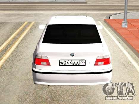 BMW 530d E39 para GTA San Andreas vista direita