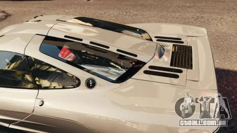 McLaren F1 XP5 para GTA 4 vista interior