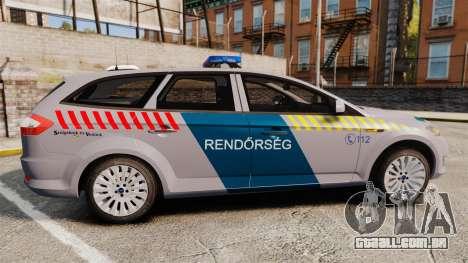 Ford Mondeo Hungarian Police [ELS] para GTA 4 esquerda vista