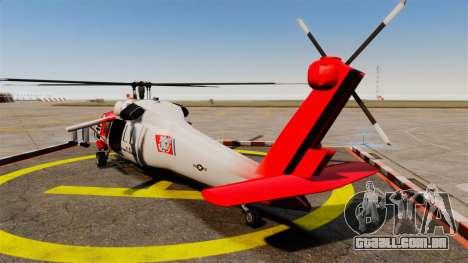 Annihilator U.S. Coast Guard HH-60 Jayhawk para GTA 4 traseira esquerda vista