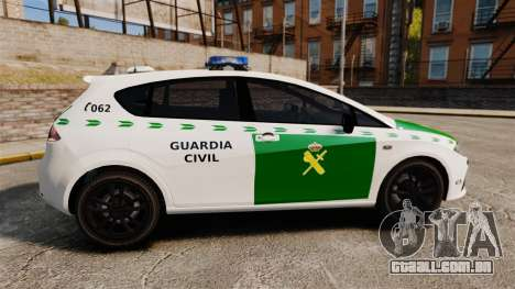 Seat Cupra Guardia Civil [ELS] para GTA 4 esquerda vista