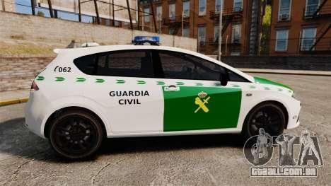 Seat Cupra Guardia Civil [ELS] para GTA 4 esquerda vista