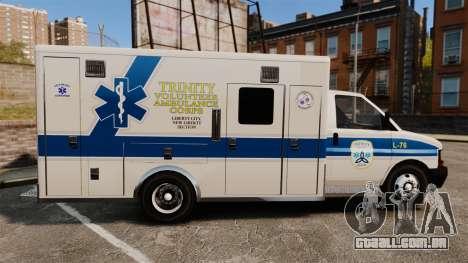 Brute Speedo TEMS Ambulance [ELS] para GTA 4 esquerda vista