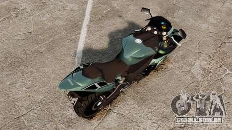 Yamaha R1 RN12 [Update] para GTA 4 traseira esquerda vista