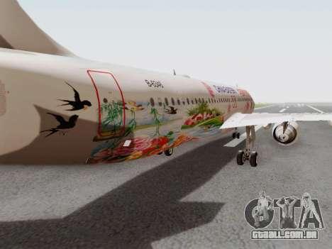 Airbus A320-211 China Eastern para GTA San Andreas vista interior