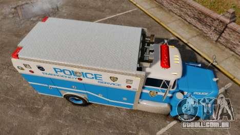 Mack R Bronx 1993 NYPD Emergency Service para GTA 4 vista direita