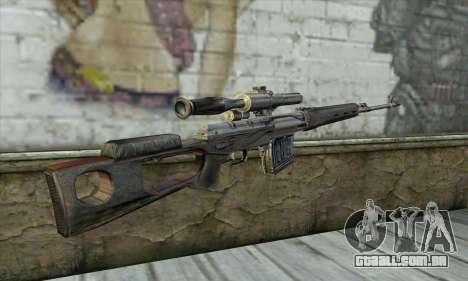 Rifle Sniper de um Stalker para GTA San Andreas segunda tela