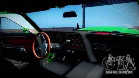 Ford Gran Torino De 1972 para GTA San Andreas vista superior