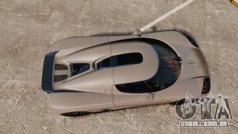 Koenigsegg CCX para GTA 4 vista direita