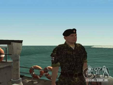 O Corpo de fuzileiros navais das forças armadas  para GTA San Andreas terceira tela