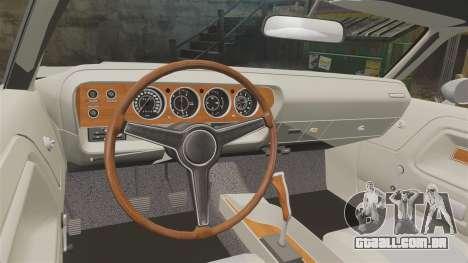 Dodge Challenger 1971 Vanishing Point para GTA 4 vista interior