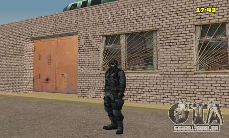 Arqueiro do jogo Splinter Cell Conviction para GTA San Andreas por diante tela
