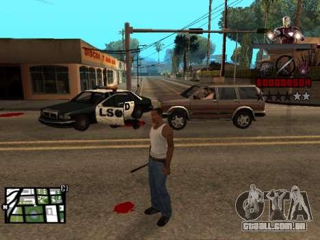 C-HUD homem de Ferro para GTA San Andreas segunda tela