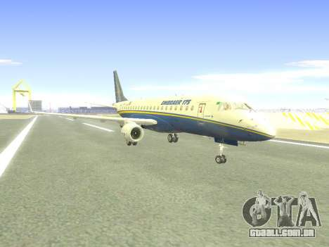 Embraer 175 HOUSE para GTA San Andreas traseira esquerda vista