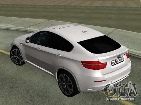 BMW X6M 2010 para GTA San Andreas vista direita