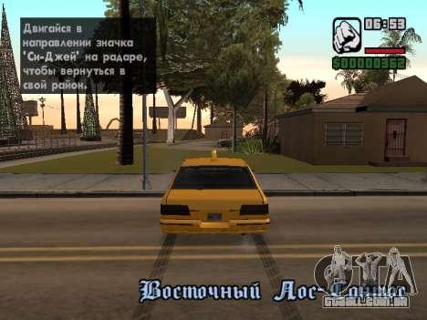 AutoDriver para GTA San Andreas terceira tela