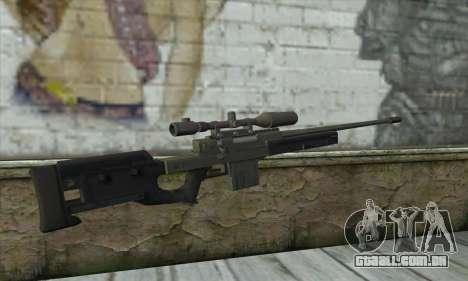 GTA V Sniper rifle para GTA San Andreas segunda tela