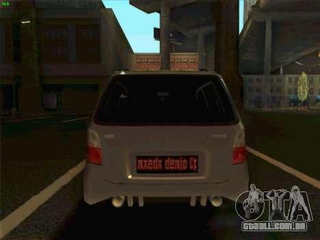 Mazda Demio 1998 para GTA San Andreas traseira esquerda vista