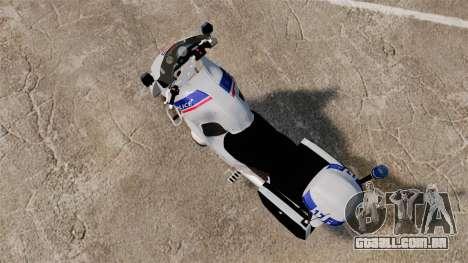 BMW R1150RT Police nationale [ELS] para GTA 4 traseira esquerda vista