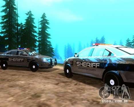 Ford Interceptor Los Santos County Sheriff para GTA San Andreas vista direita