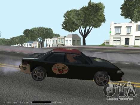 Vinis para Sultan para GTA San Andreas traseira esquerda vista